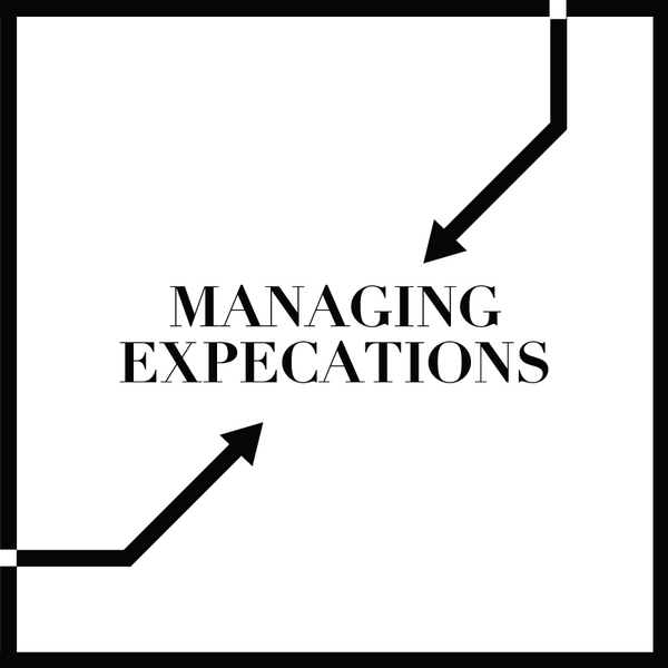 Entrepreneurs managing expectations