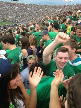 Ciaran at an ND Home Football Game