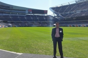 Sunny at Soldier Field in Chicago