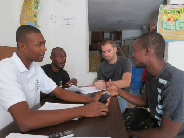 ESTEEM Alum Dustin Mix works with people in Haiti