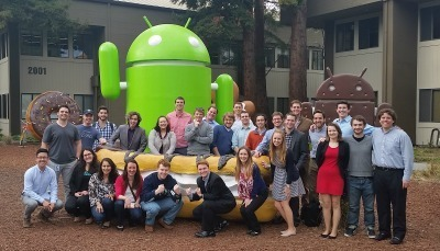 Students at the Google Headquarters