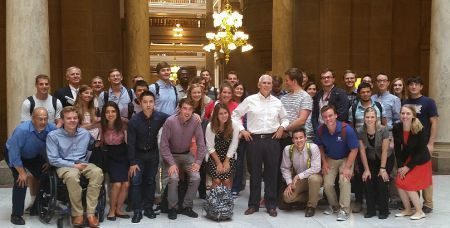 Students meet Governor Pence on Indy Trip